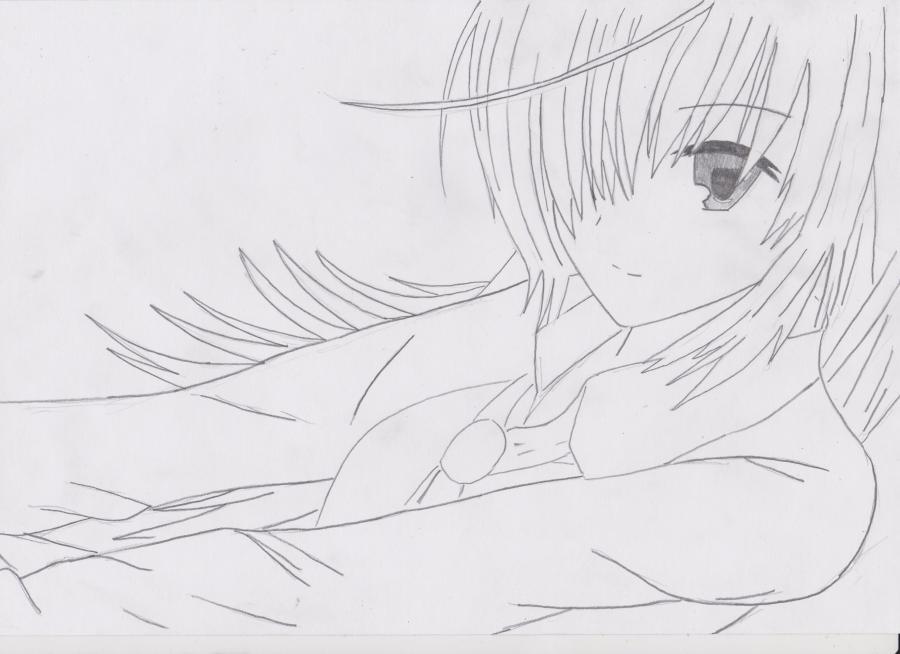 Как просто нарисовать красивую аниме девушку простым - фото 4