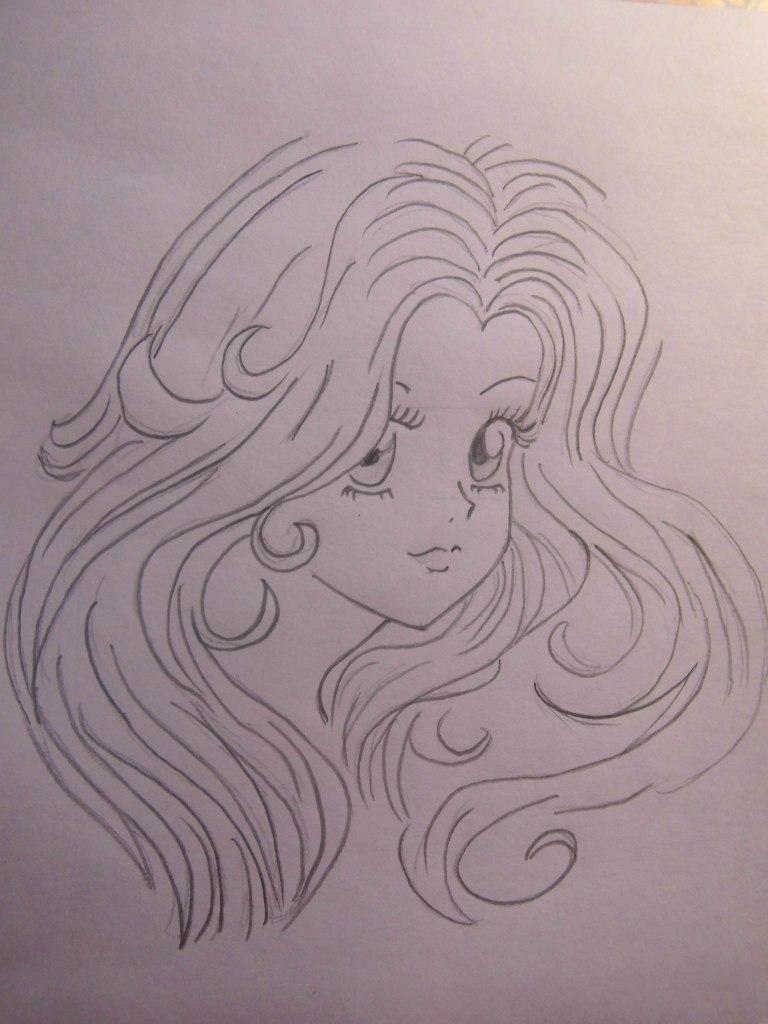 Учимся легко рисовать лицо и волосы в стиле аниме - шаг 5