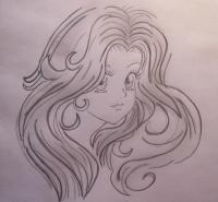 Учимся рисовать лицо и волосы в стиле аниме поэтапно