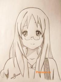 Учимся рисовать Савако Яманака из аниме K-on карандашом