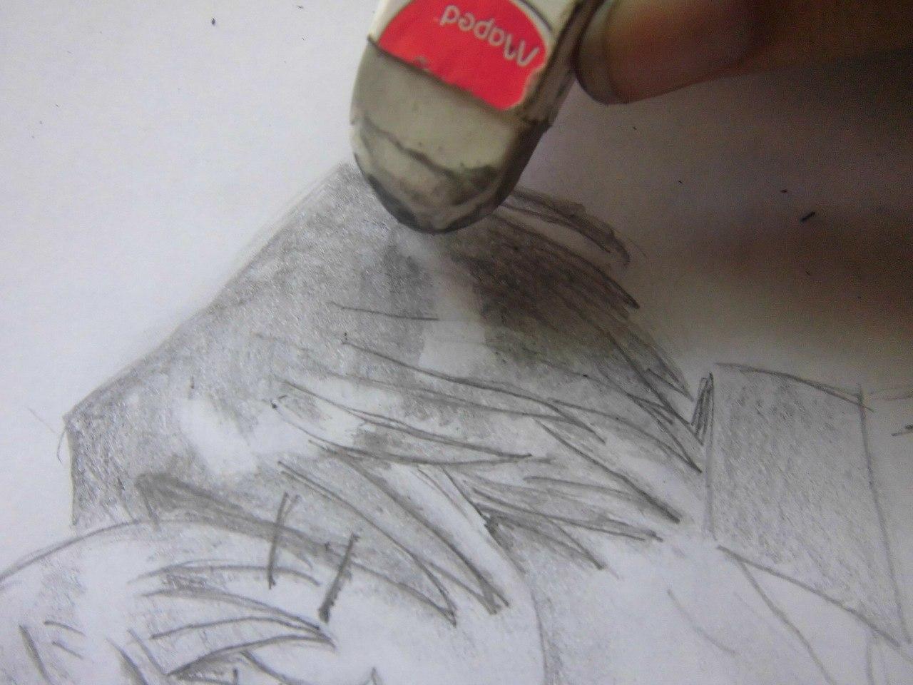 Учимся рисовать целующуюся аниме пару - шаг 9