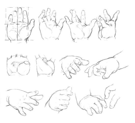Как рисовать Руки младенца - шаг 1