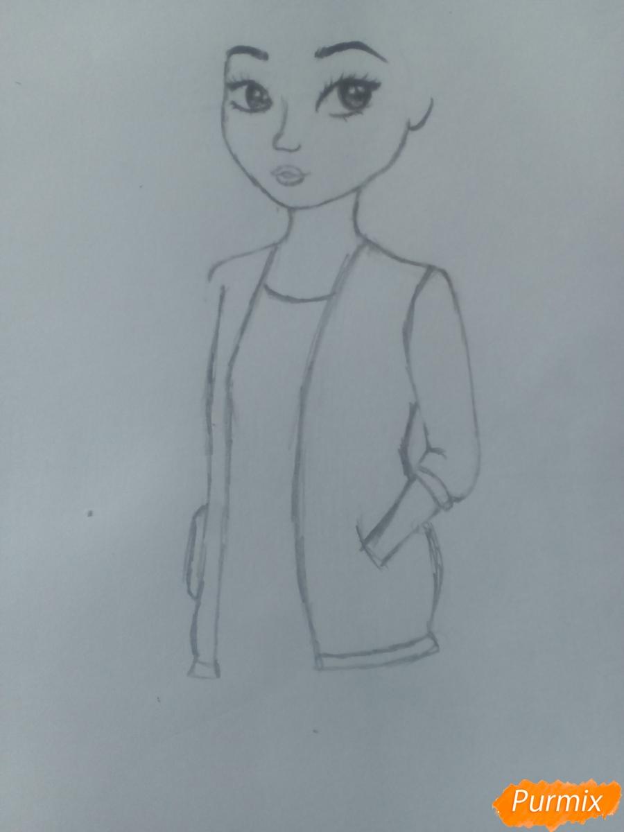 Рисуем миленькую кудрявую девушку - шаг 7