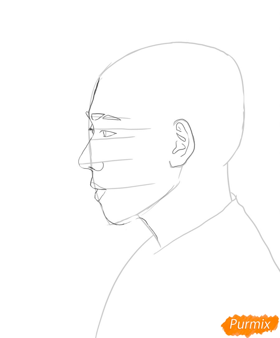 Рисуем портрет Зико лидера группы Block B - шаг 2