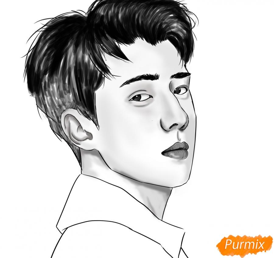 Рисуем портрет О Се Хуна - фото 14