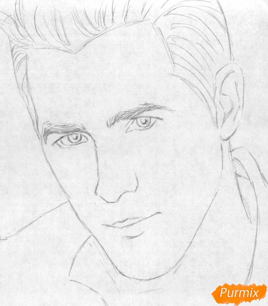 Рисуем портрет Райан Рейнольдс - шаг 1