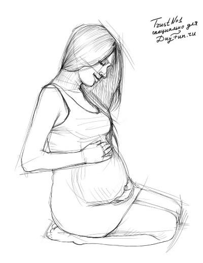 Рисуем беременную девушку - шаг 3