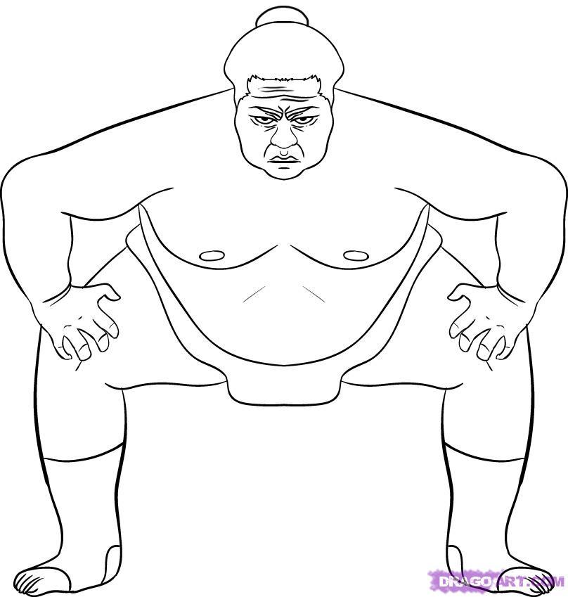 Рисуем борца сумо