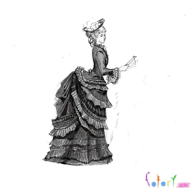 Рисунки карандашом девушки в юбках