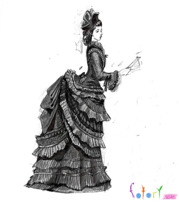 19 век дамы в платьях