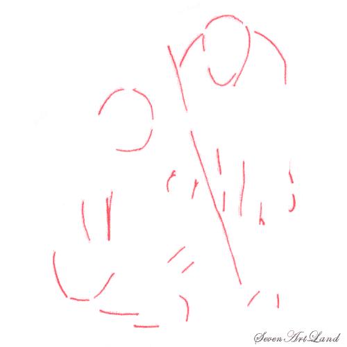 Как нарисовать двух