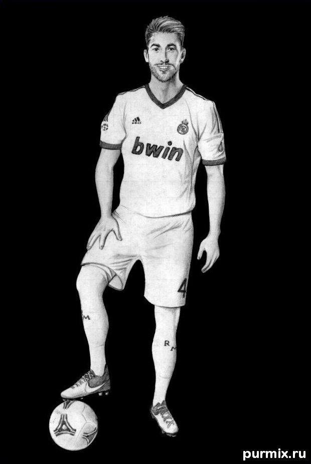 Рисуем футболиста Серхио Рамоса простым
