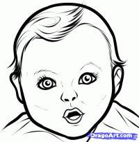 голову маленького мальчика карандашом