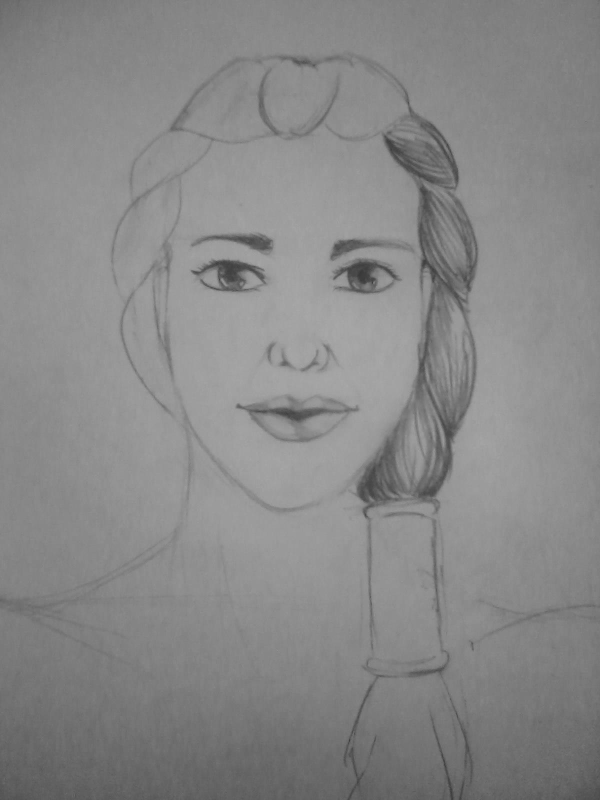 Рисуем лицо (портрет) девушки амазонки