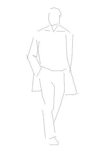 Рисуем мужчину в пальто  на бумаге
