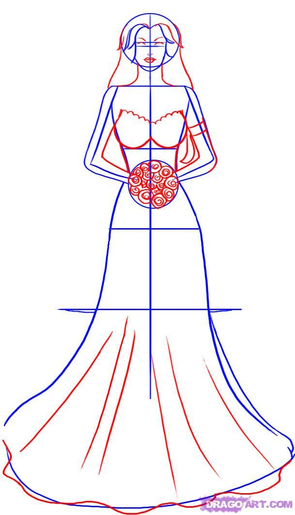 Как нарисовать Невесту карандашом поэтапно