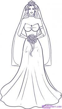невесту карандашом
