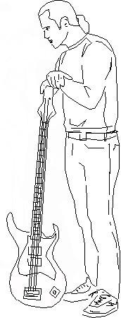 Рисуем парня с гитарой в полный рост
