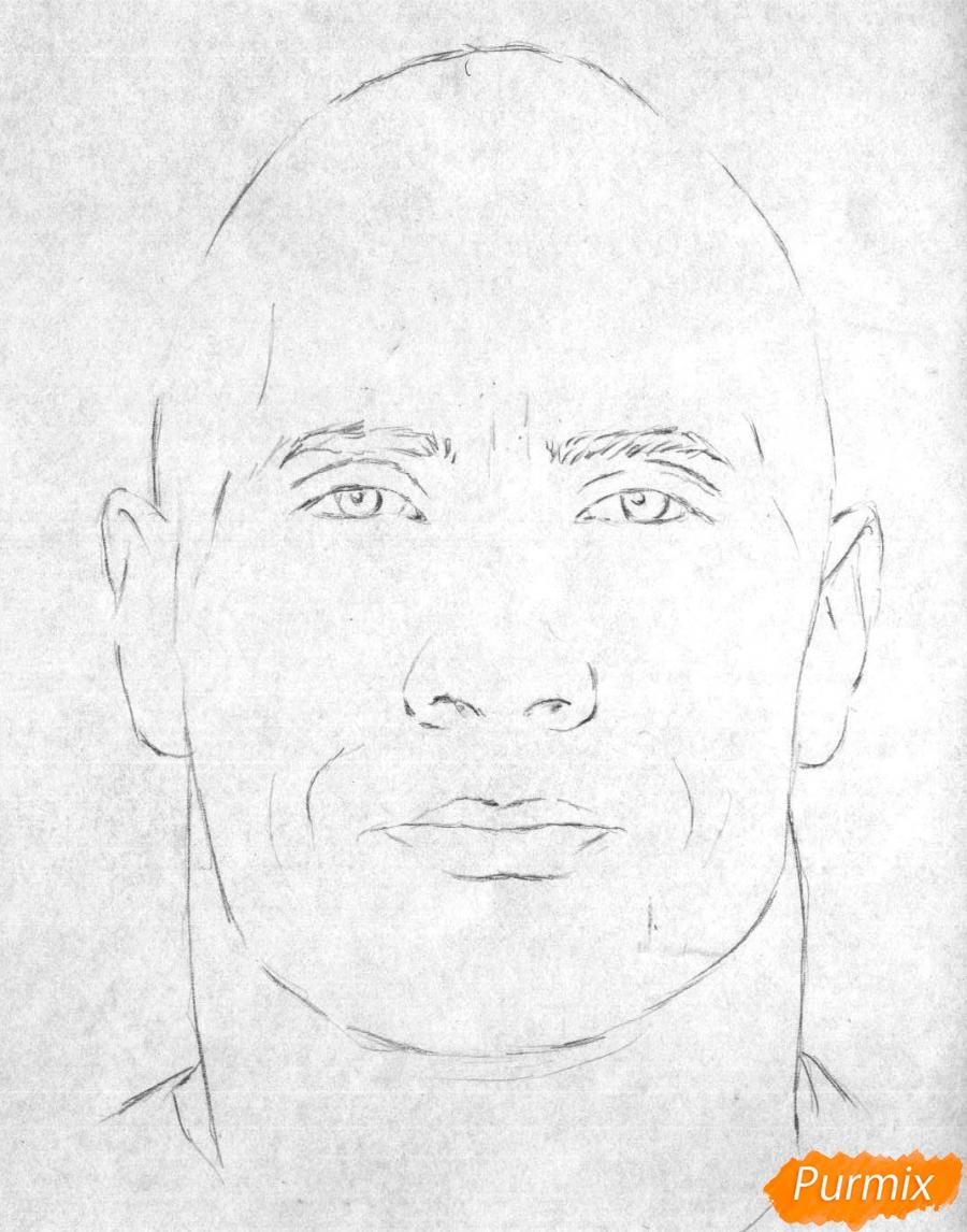 рисуем автопортрет поэтапно карандашом