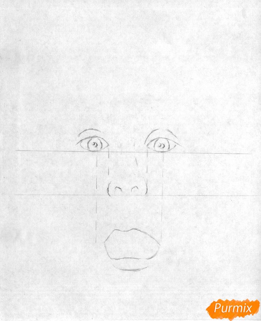 Рисуем портрет Маколея Калкина из фильма Один дома - шаг 1