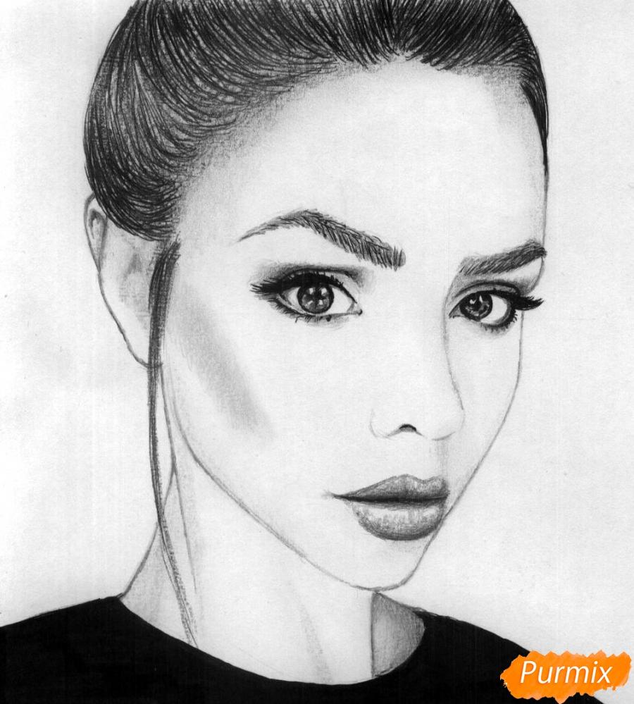 Как нарисовать портрет Маши Вэй карандашом поэтапно