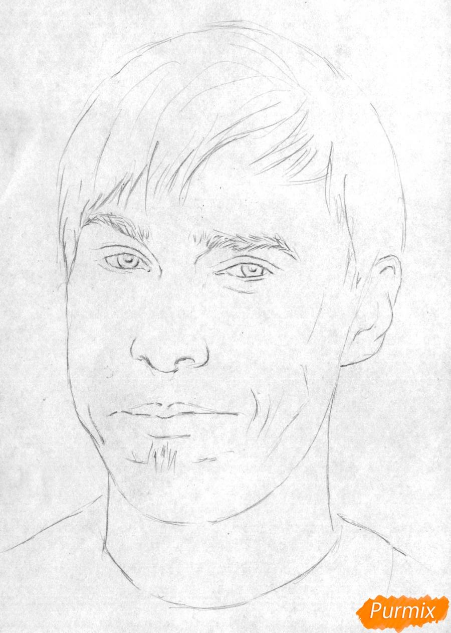 Рисуем портрет Стаса Давыдова - шаг 1