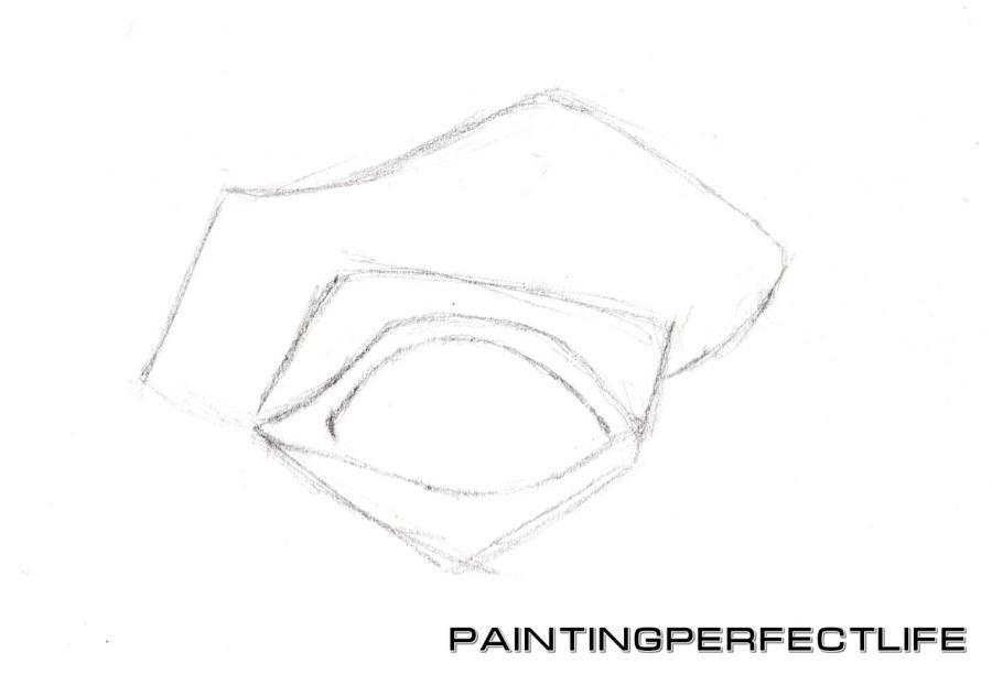 Рисуем реалистичный глаз простым - шаг 2
