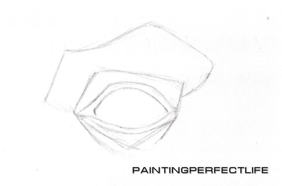 Рисуем реалистичный глаз простым - шаг 3