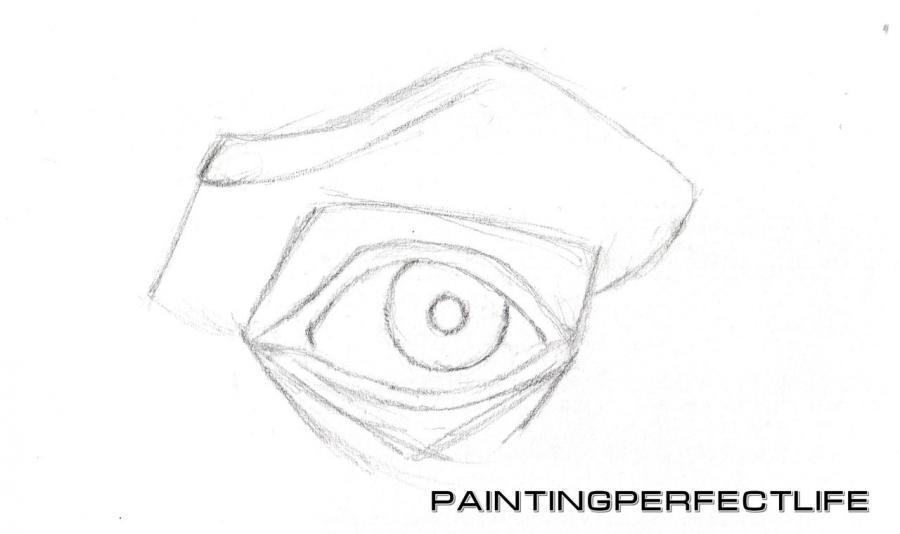 Рисуем реалистичный глаз простым - шаг 4