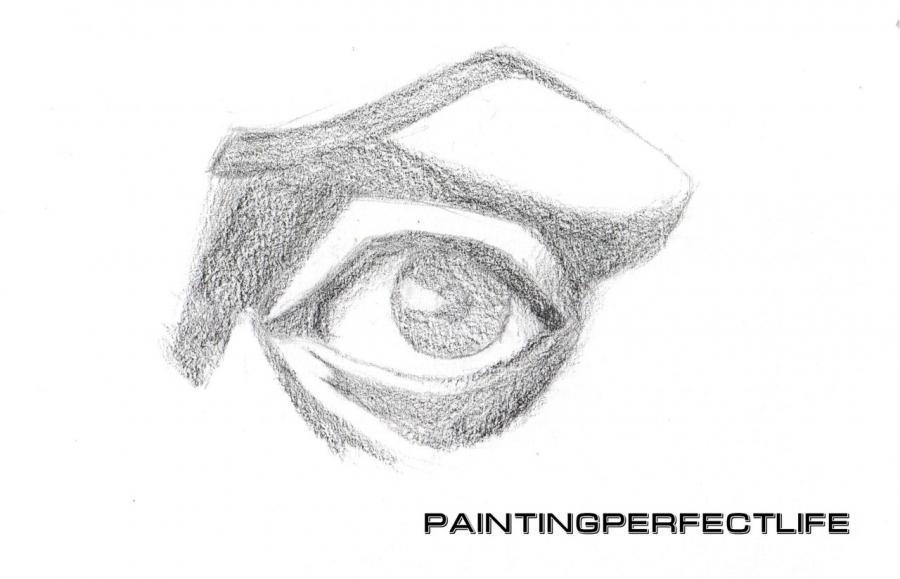 Рисуем реалистичный глаз простым - шаг 5
