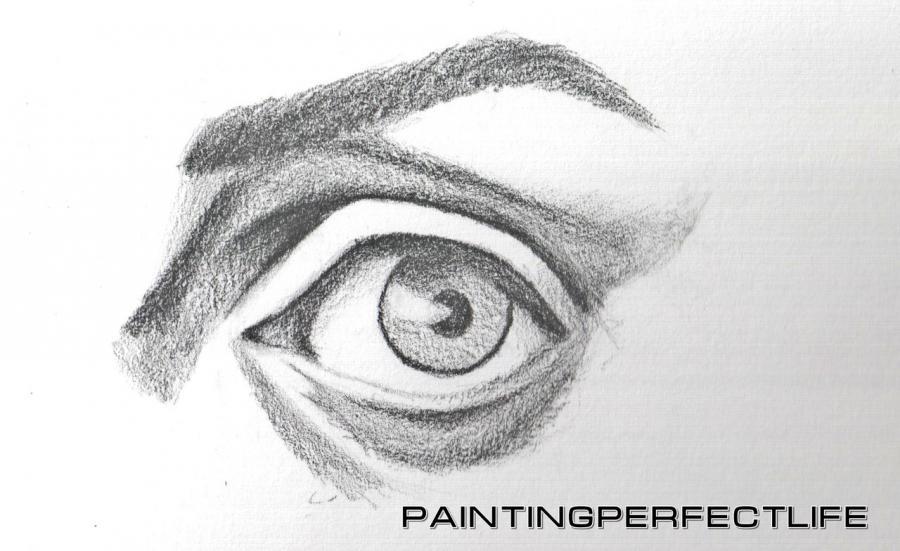 Рисуем реалистичный глаз простым - шаг 6