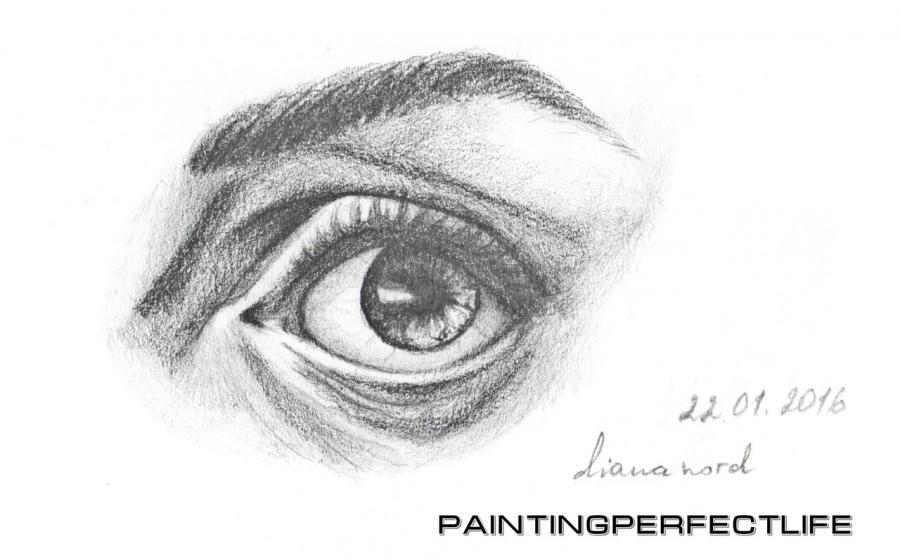 Как нарисовать реалистичный глаз простым карандашом поэтапно