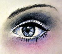 Фото реалистичный женский глаз