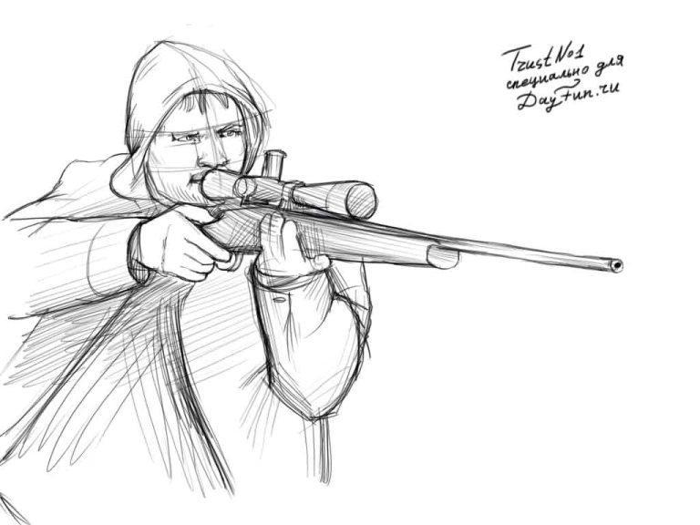 Рисуем снайпера