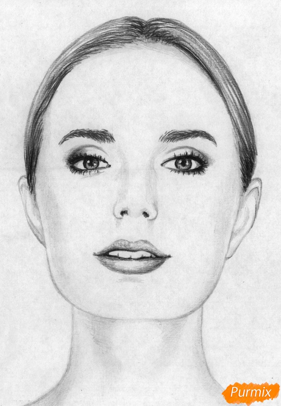 Как нарисовать портрет Сони Есьман карандашом поэтапно