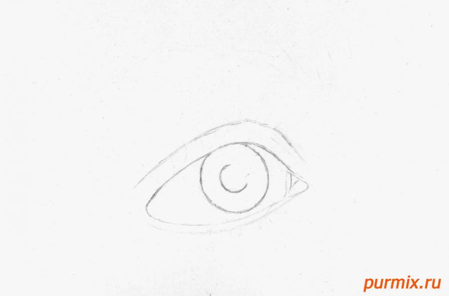 Рисуем глаз девушки - шаг 1