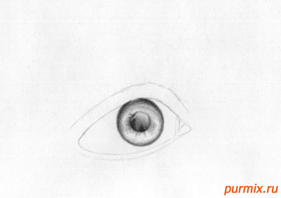 Рисуем глаз девушки - шаг 2