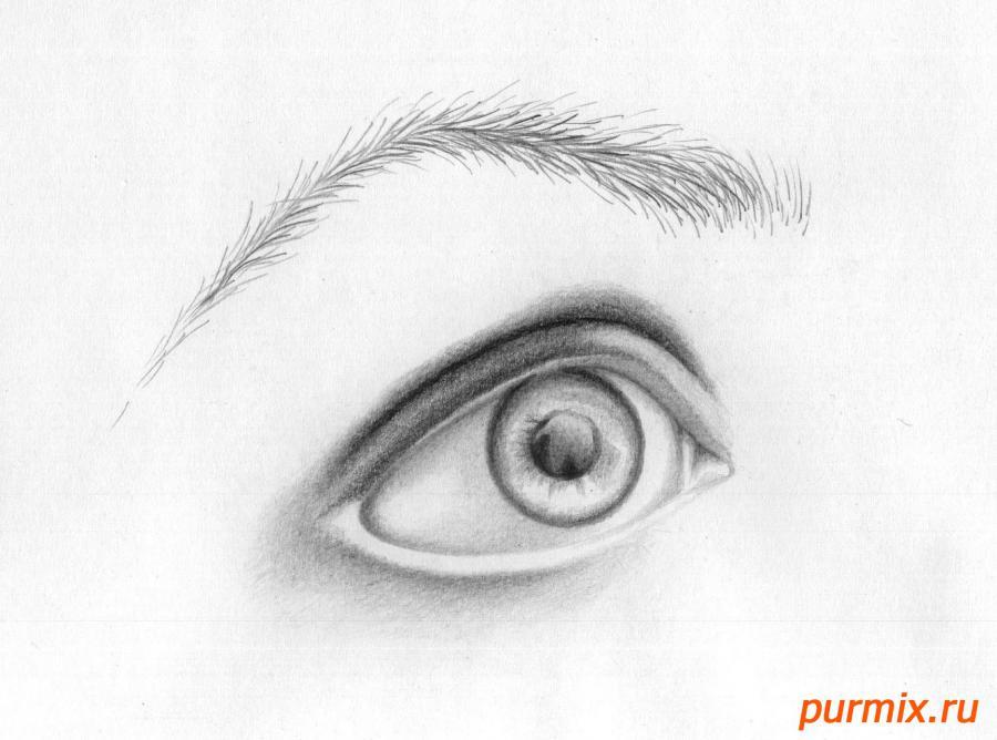 Рисуем глаз девушки - шаг 6