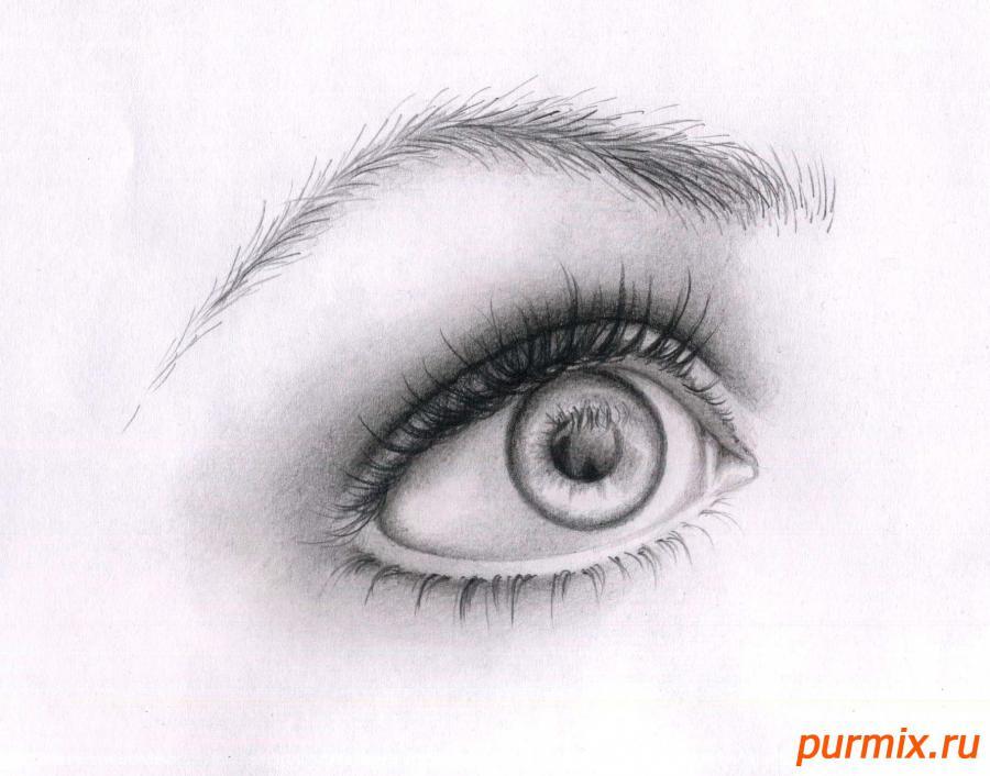Рисуем глаз девушки - шаг 8