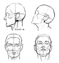 Как рисовать Движение головы на шее карандашом