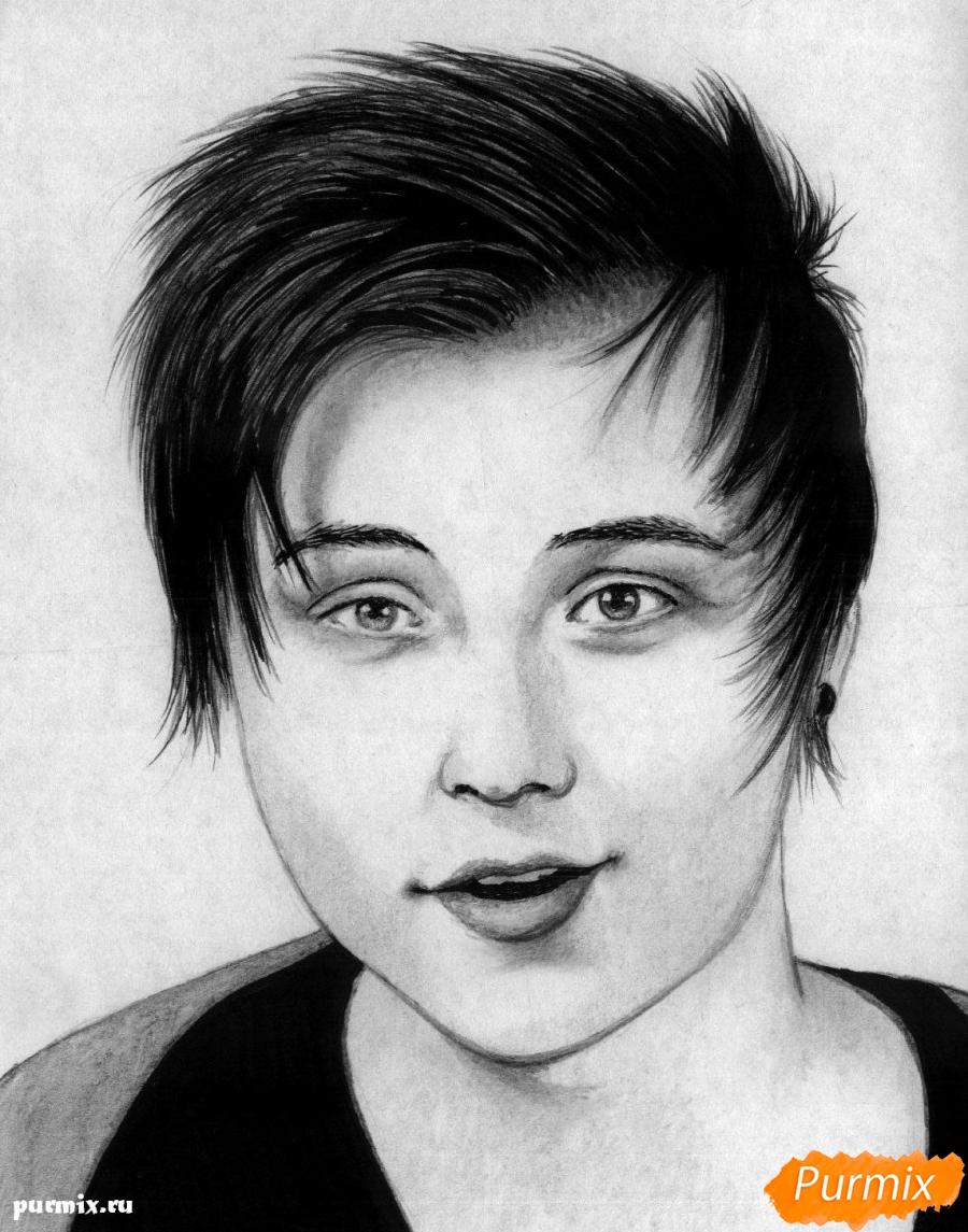 Как нарисовать портрет Ивангая карандашом поэтапно