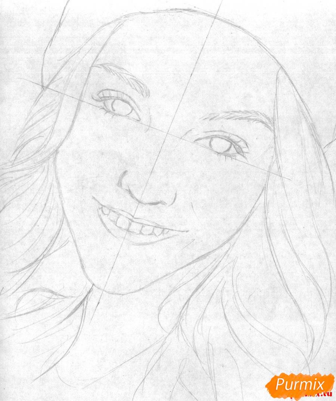 Рисуем портрет Марьяны Ро простым - шаг 1