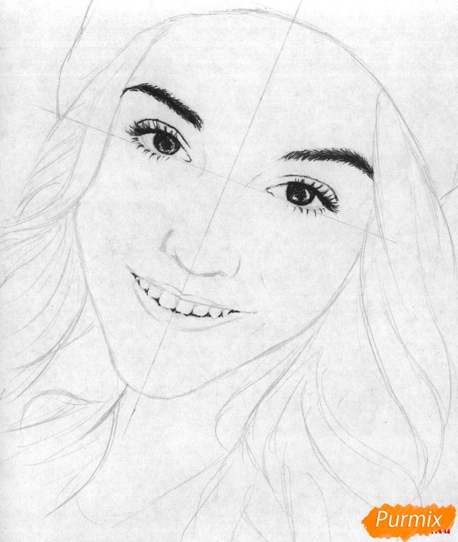 Рисуем портрет Марьяны Ро простым - шаг 2