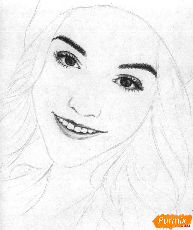 Рисуем портрет Марьяны Ро простым - шаг 3