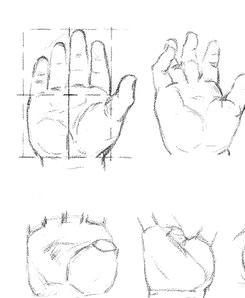 Как рисовать Руки младенца карандашом