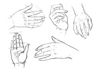 Как рисовать Женские руки карандашом
