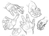 Ракурсы рисования рук