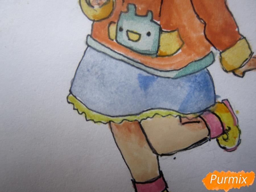 Рисуем акварелью милую чиби девочку - шаг 11
