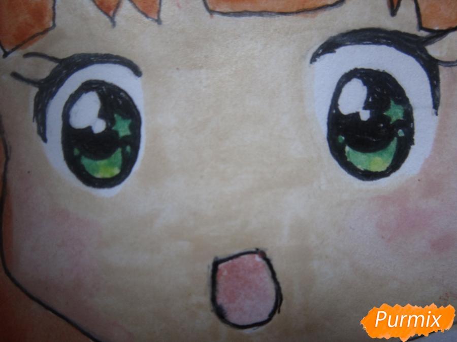 Рисуем акварелью милую чиби девочку - шаг 12