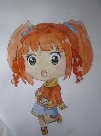 Фото акварелью милую чиби девочку